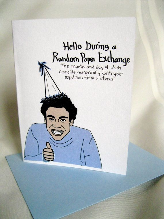 Community Troy Barnes Birthday Card (and/or a Non-Birthday Birthday