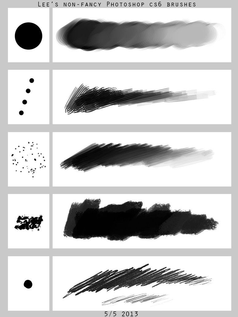 Lee S Non Fancy Ps Brush Set By Spoonfishlee On Deviantart
