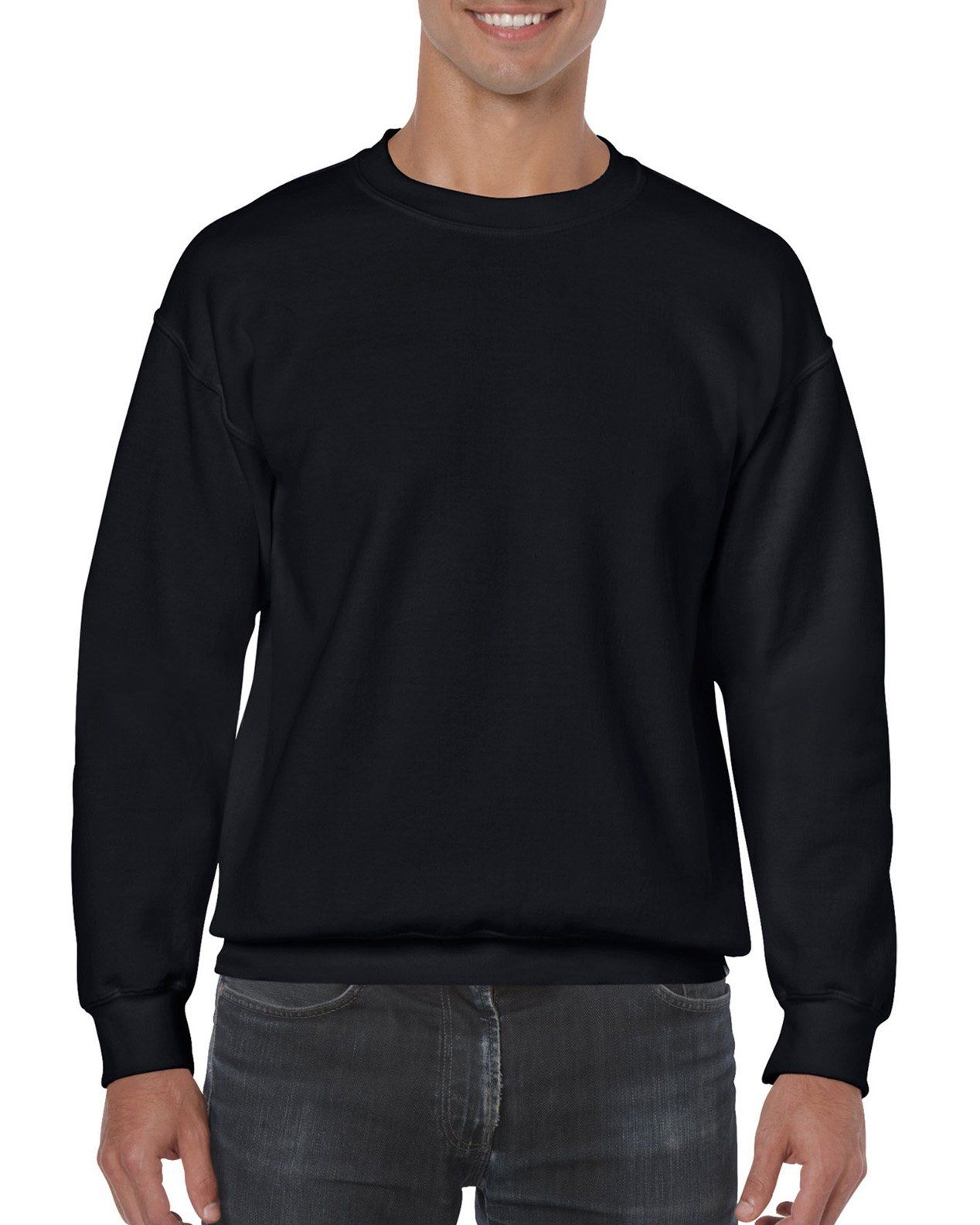 f791d54e Gildan Mens Heavy Blend Crewneck Sweatshirt Small Black ** More info could  be found at the image url. (This is an affiliate link) #fashionjeans