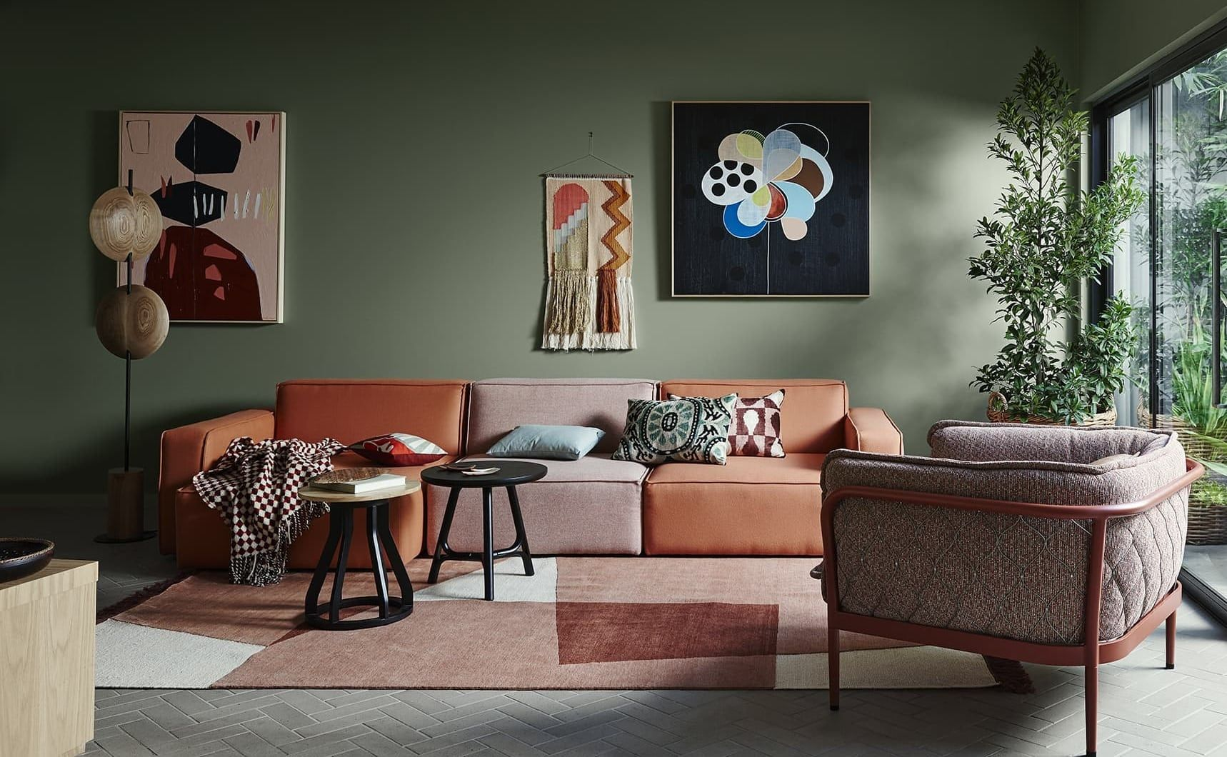 the promising australiana trend has arrived feature wall on paint for living room walls id=15914