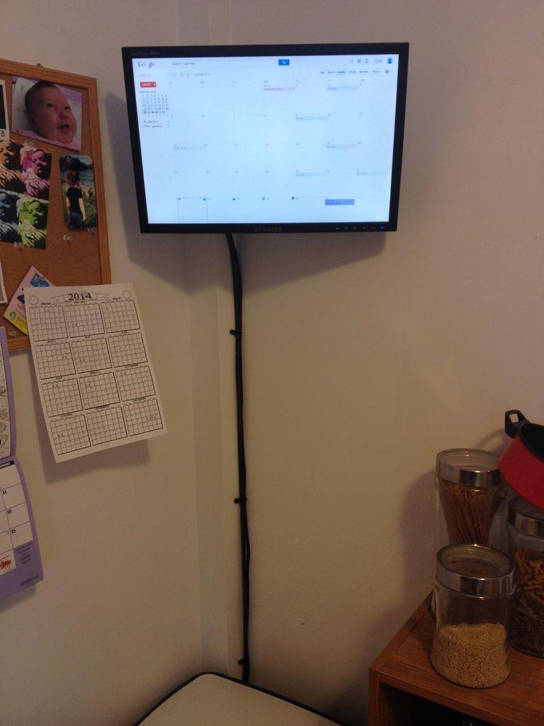 raspberry pi wall mounted google calendar google calendar wall