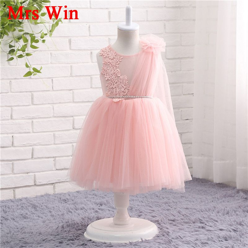 Blush Pink Flower Girl Dress First Birthday Girl Party vestido de ...