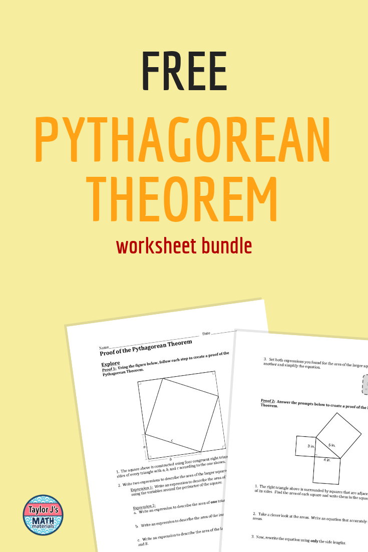 Get A Free Pythagorean Theorem Worksheet Bundle Just By Signing Up For A Newsletter That You Won T Want To Miss Anyho High School Fun 8th Grade Math Math Tutor [ 1102 x 735 Pixel ]