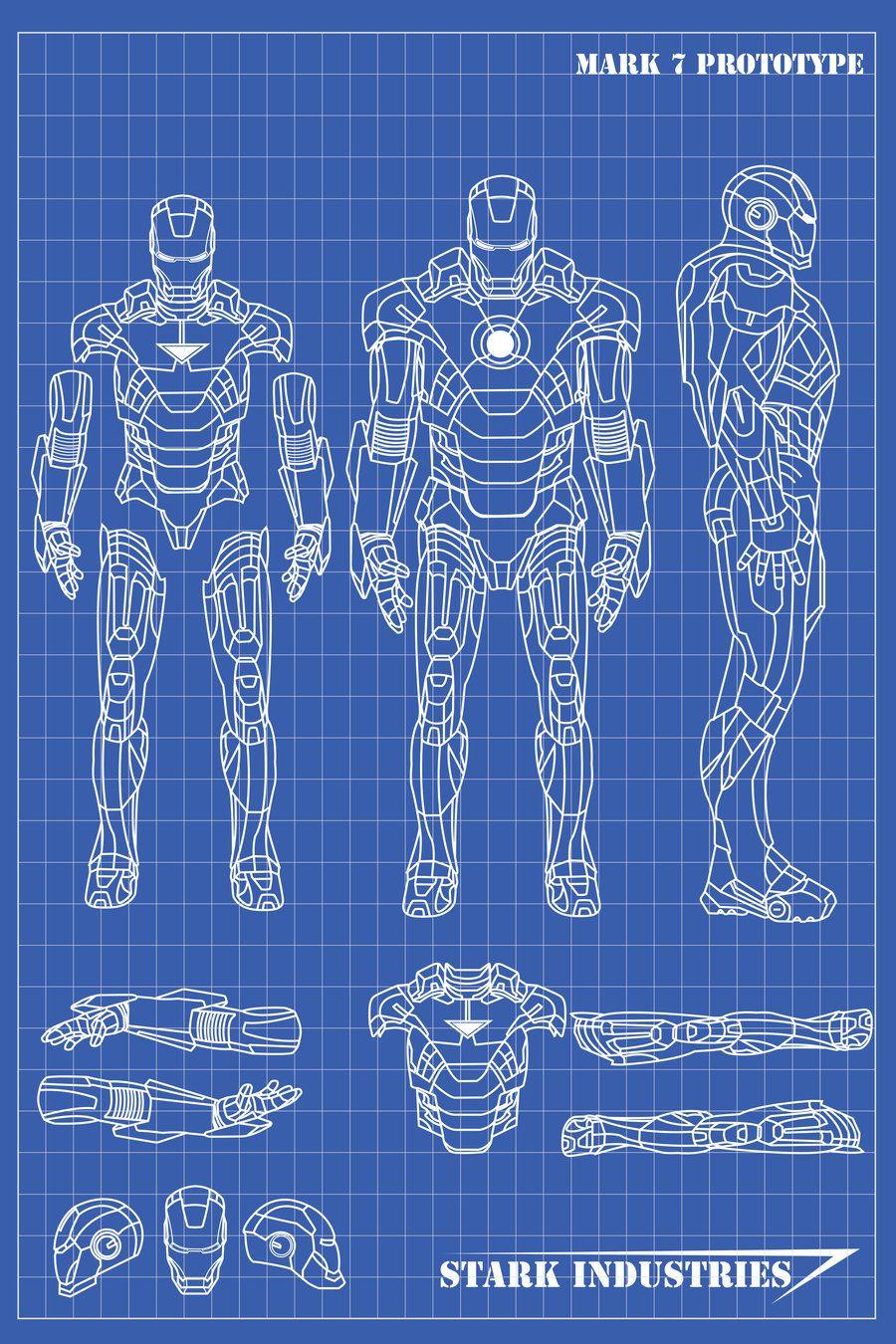 iron man blueprints by