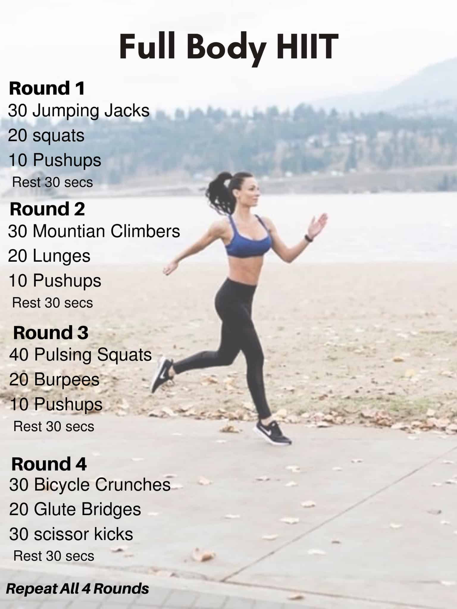 No Equipment Workout Full Body Workout - Nourish Your Life
