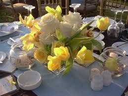 Blue + Yellow Wedding. See More at http://partymotif.com