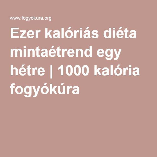 1000 kalóriás diéta levessel)