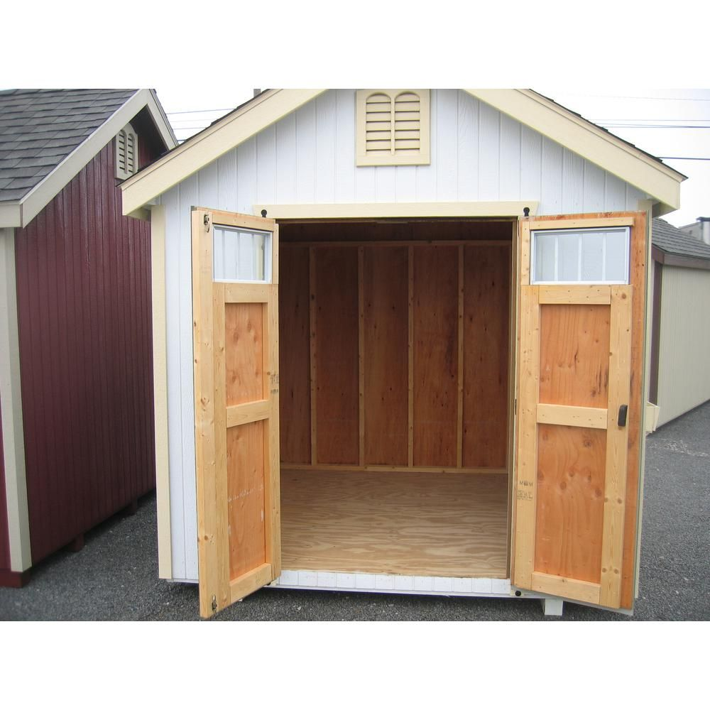 Colonial Williamsburg 10 Ft X 12 Ft Wood Storage Shed Diy Kit With Floor Kit 10x12 Wcgs Wpnk Fk The Home Depot In 2020 Wood Storage Sheds Traditional Sheds Shed