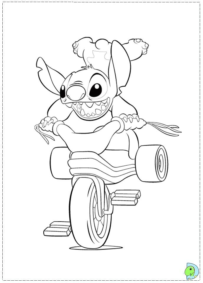 disney stitch coloring pages | Coloring page | cumple | Pinterest ...