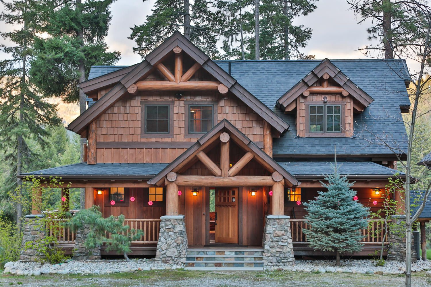 Big chief mountain lodge a natural element timber frame for Rustic lodge