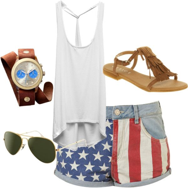 forth of July outfit; perfect just thing I was lookin for!