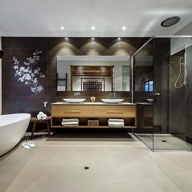 Contemporary bathrooms and bathroom design ideas at Perth Bathroom  Packages. Full sized bathroom displays with contemporary bathrooms and  bathroom decor.