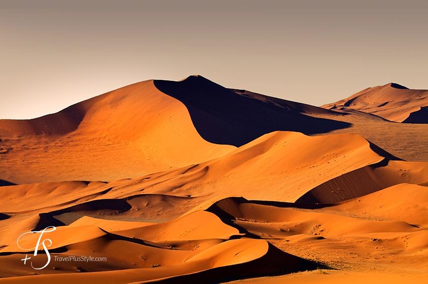 Sossusvlei Namibia Travelplusstyle Com Namibia Africa Sand Dunes