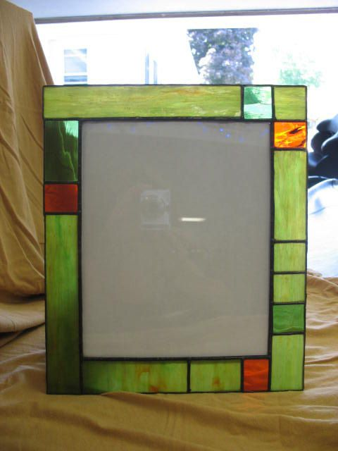 Stained glass 8 x 10 picture frame