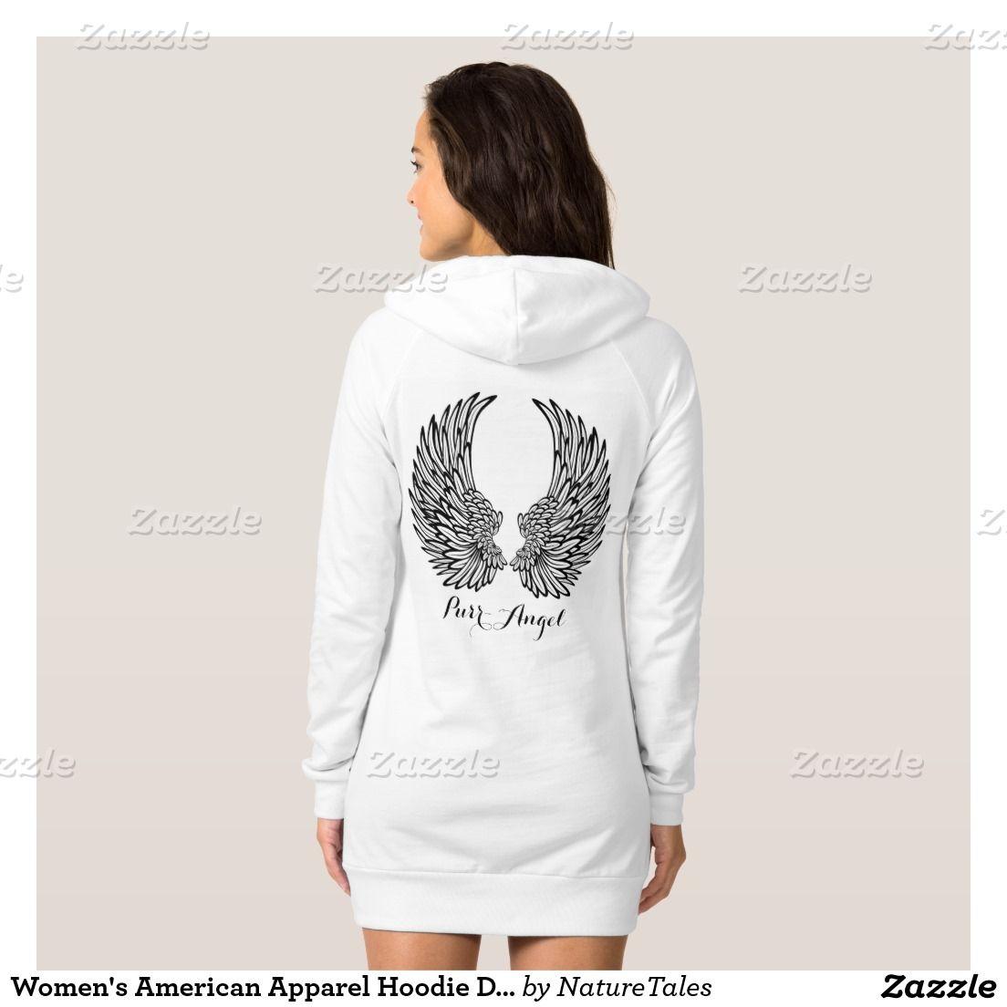 Womenus american apparel hoodie dressangel wings stuff to buy