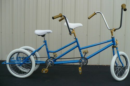childs custom tandem three wheel bike small two seater bicycle 16 ebay interesting. Black Bedroom Furniture Sets. Home Design Ideas