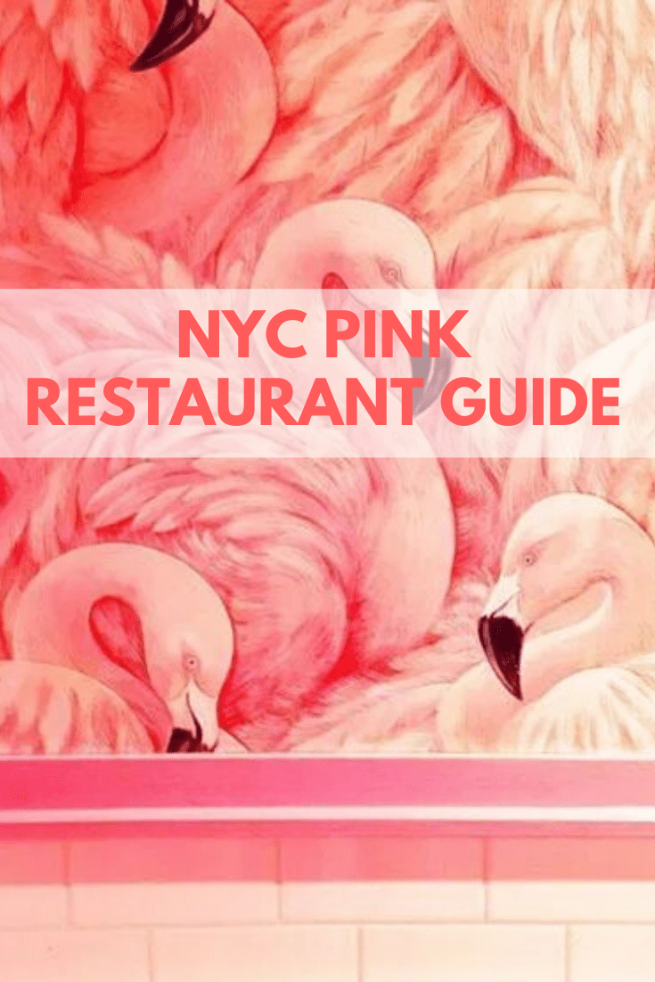 Top NYC Lifestyle blogger Carly A. Hill shares her top pink restaurants in NYC.  There seems to be a trend to restaurants in New York City these days and it involves one simple detail: everything pink! The must see spots have blown up thanks to decorating in this feminine color, making it Instagram worthy and creating lines out the door. #carlyahill #nycrestaurants #thinkpink #instagramspotsinnyc