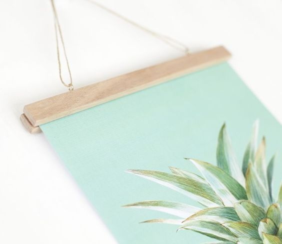 Make Your Own Poster Hanger Great Way To Display Art