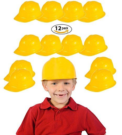 Child Construction Party Costume Hats (24 Pack)