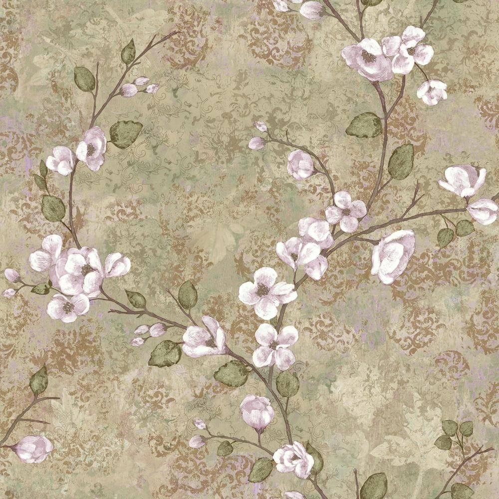 York Wallcoverings Dogwood Paper Strippable Roll Wallpaper (Covers 56 sq. ft.) TB4313 - The Home Depot