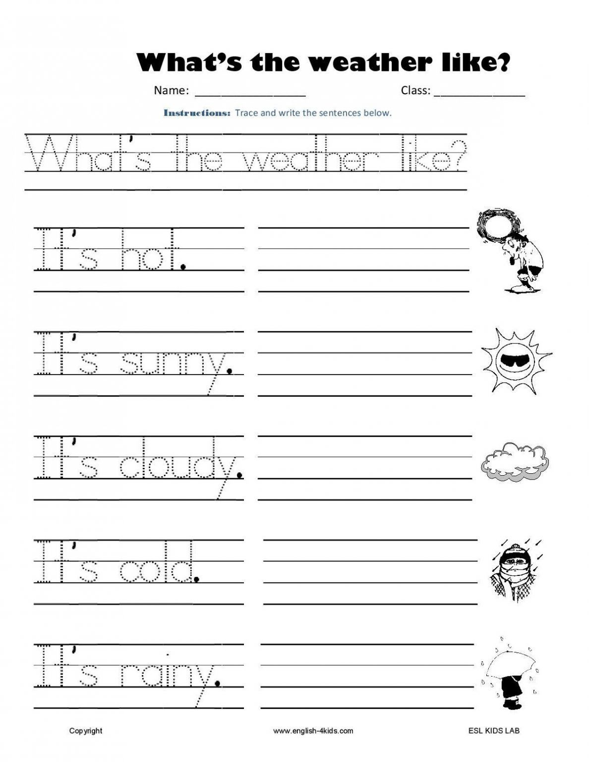 Free Printable Learning Worksheets For K