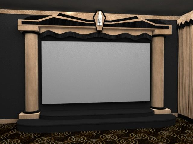The SoundRight Atlas Home Theater Stage Features A Dazzling Art Deco Design  That Will Have Friends And Family Gawking At Its Elaborate Architecture.