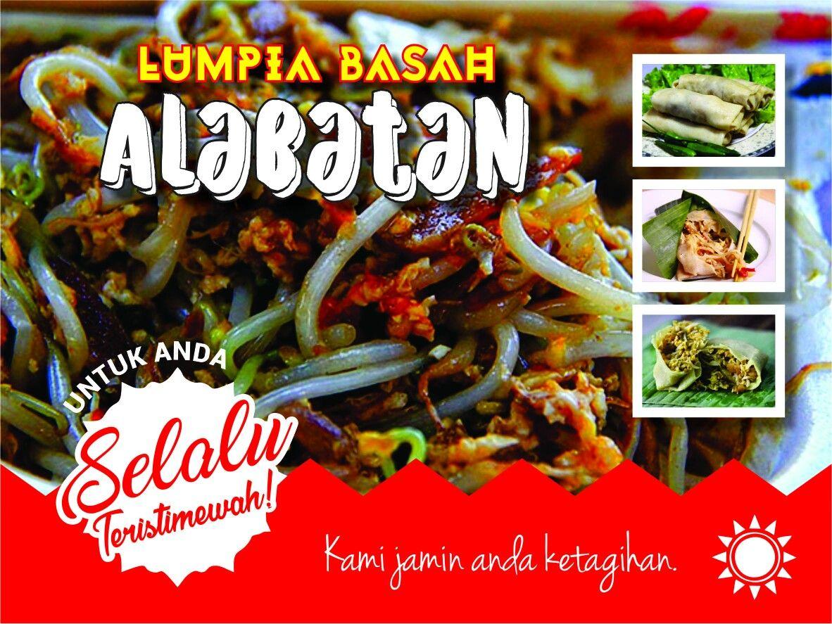 Design Spanduk Kuliner Lumpiah Basah Di Kota Bogor Lumpiah Basah