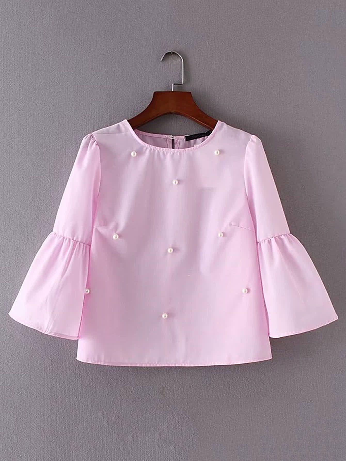 Manga para la blusa escotada atrás | vestidos niñas | Pinterest ...
