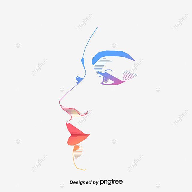 Vektor Zhenskoe Lico Lico Glaza Linii Png I Psd Fajl Png Dlya Besplatnoj Zagruzki Vector Pop Clipart Images Face