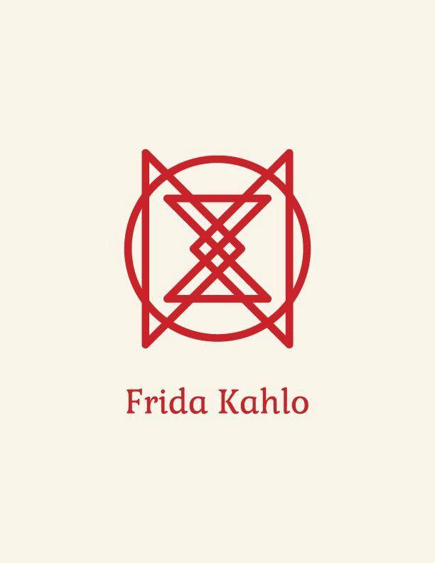 Logo símbolo Frida Kahlo
