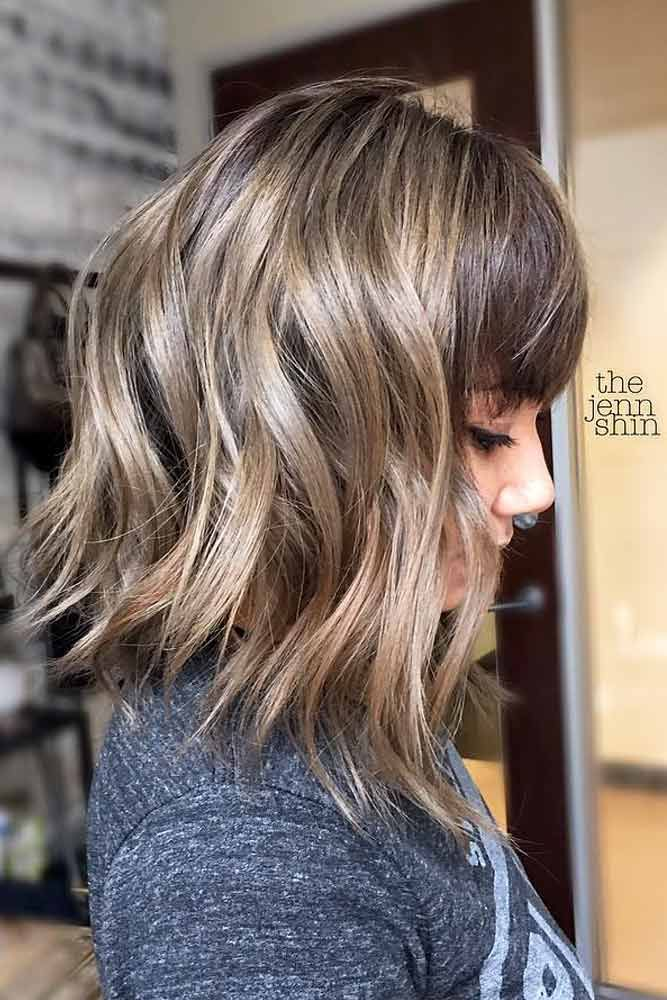 24 Ideas With Edge For A Long Bob Haircut With Bangs Long Bob Haircuts Bob Haircut With Bangs Wavy Bob Hairstyles