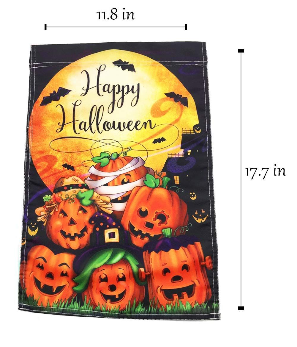 terrifying halloween decorations : happy halloween garden flag