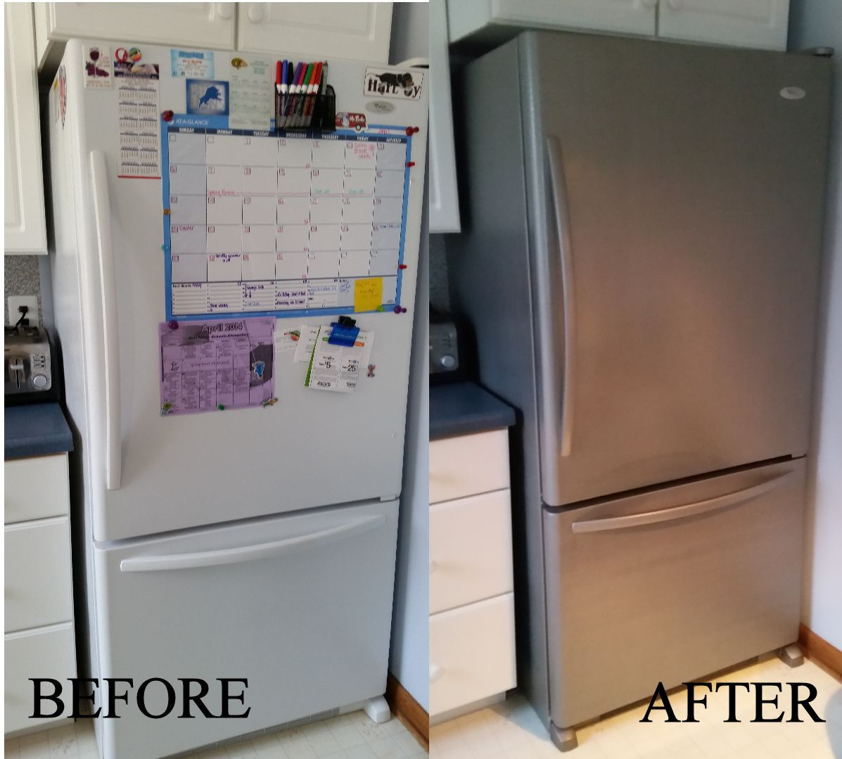 Rustoleum Or Thomas S Stainless Steel Paint Update Working Appliances To Look Like New Or Match A New Diy Kitchen Remodel Stainless Steel Paint Home Kitchens