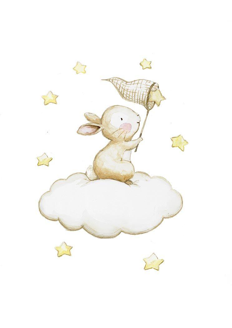 Ilustracion infantil pescando estrellas | Ilustraciones | Pinterest ...