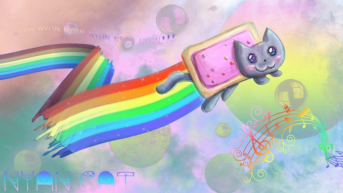 Nyan Cat Wallpaper | Nyan Cat!!!!!! Meow Meow Meow <3 | Pinterest ...