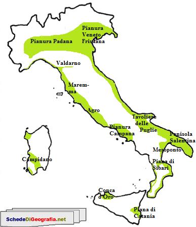 Cartina Italia Monti E Fiumi.Le Pianure Italiane Attivita Geografia Scuola Elementare Scuola