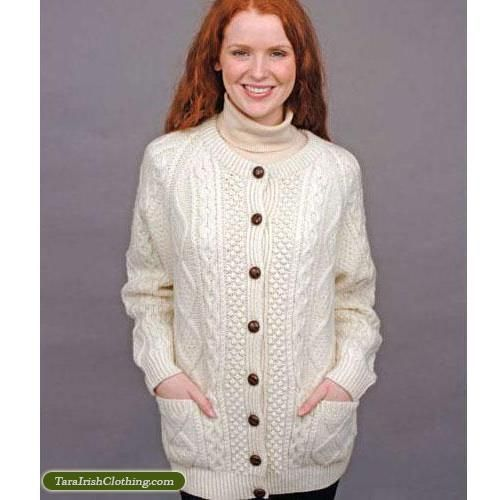 White Hand Knit Ladies Cardigan | WaRm WoOLiEs | Pinterest ...