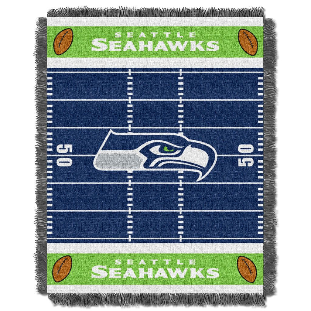 NFL 04401 Seahawks Field Baby Throw