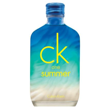 AUTHENTIC CALVIN KLEIN CK ONE SUMMER With its sour burst of lemon and lime freshness, this fragrance resembles a crowd favorite summer drink: gin and tonic.The bottle's change of colors work together to describe a relaxing summer moment.  ($54; macys.com)
