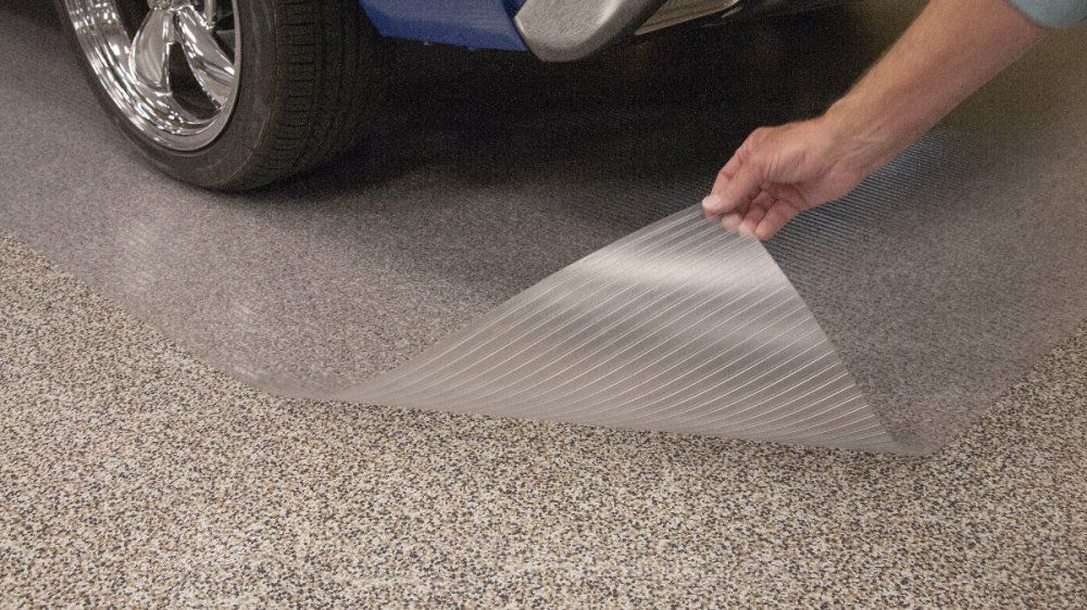 Epoxy Protector Mat Clear Vinyl Parking For Vehicles Equipment Atv Golf Carts Protect