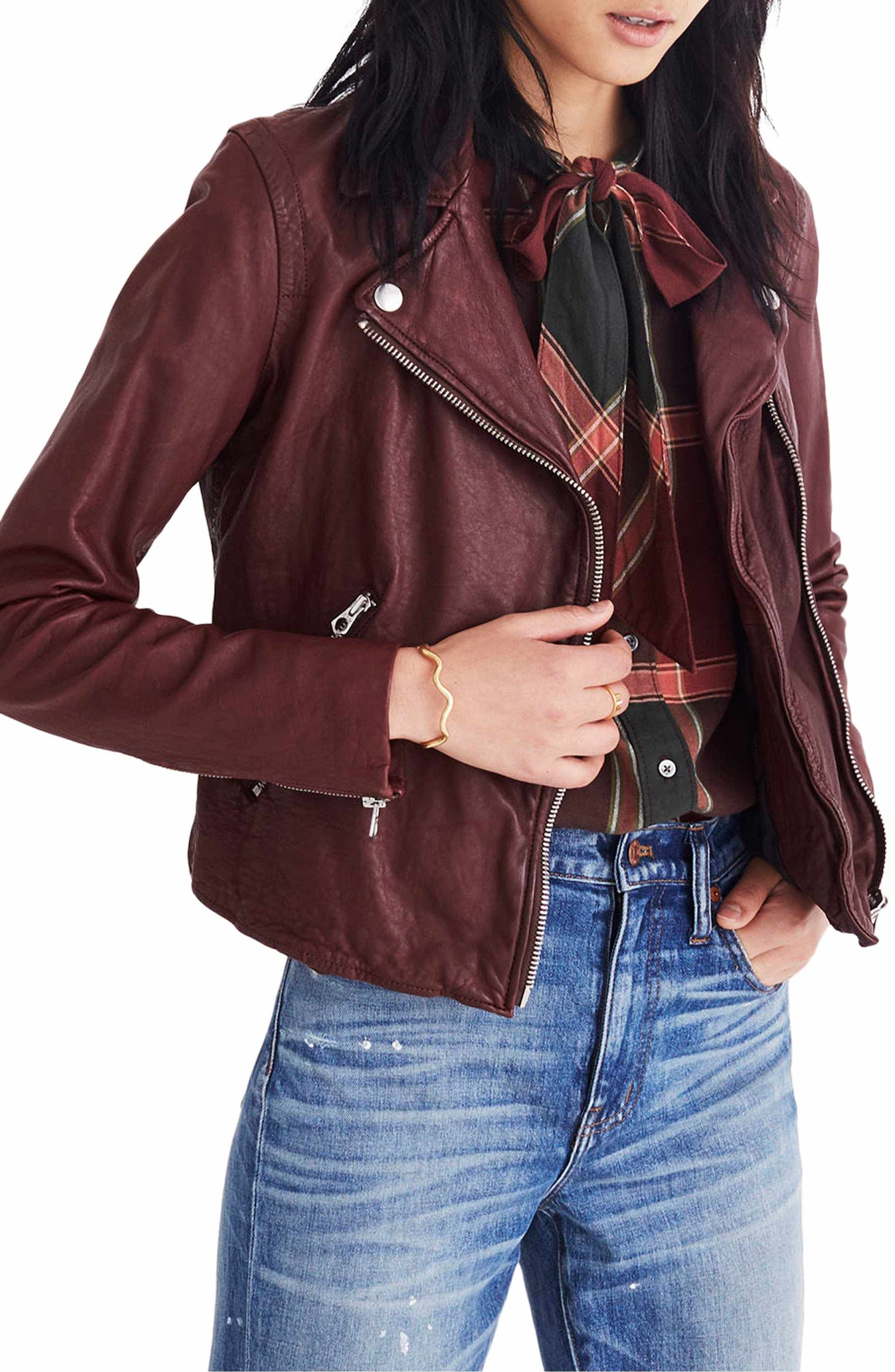 Madewell Washed Leather Moto Jacket Nordstrom Leather Jacket Style Leather Moto Jacket Leather Jacket [ 3000 x 1956 Pixel ]