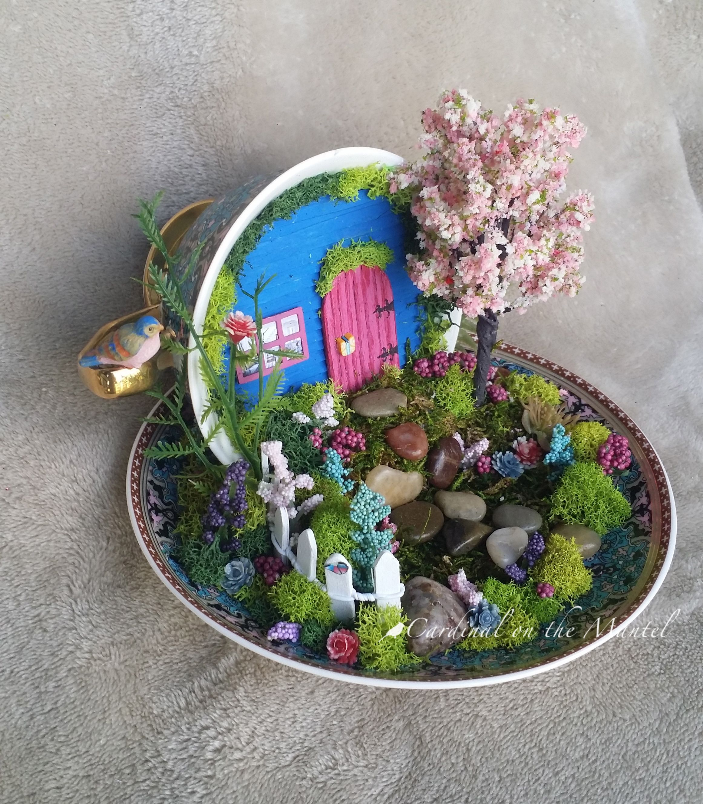 Edible Landscaping And Fairy Gardens: Teacup Fairy Garden, Featured On CountyLiving.com April