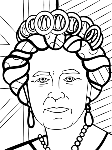 Coloriage La Reine Elisabeth Ii Par Romero Britto Categories