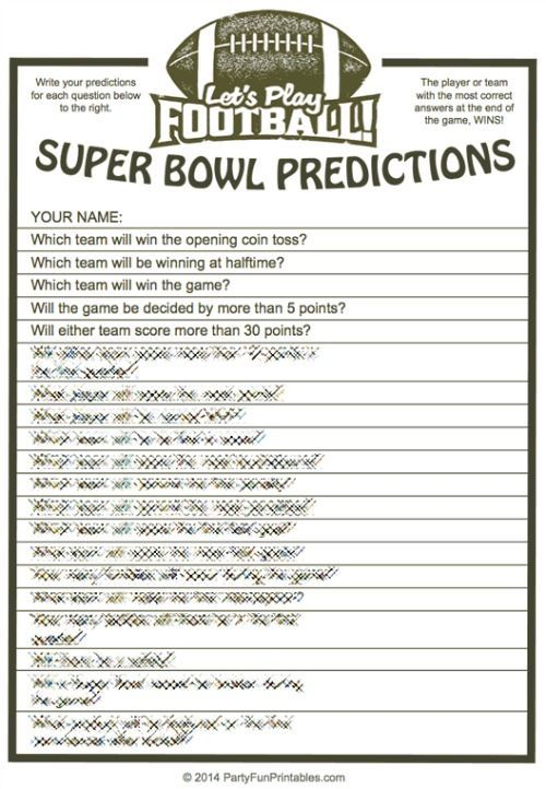 image relating to Printable Prop Bets Super Bowl known as Tremendous Bowl Trivia Numerous Option Printable Video game Tremendous