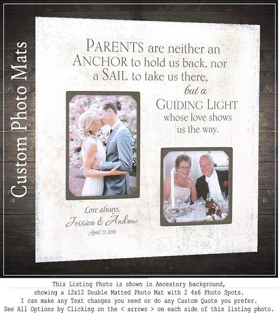 Check Out Mom And Dad Wedding Gifts Wedding Frames Photo Mat