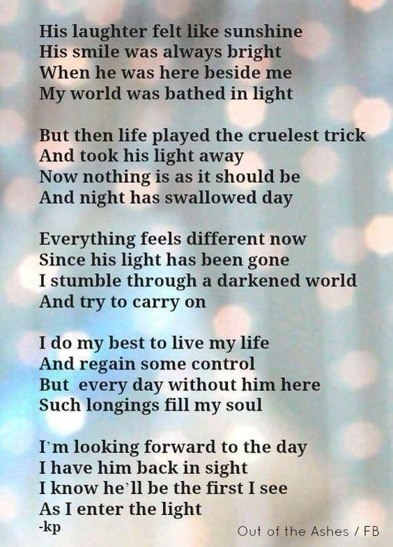 Pin by Rachel Smith-Mosel on Brennen | Grieving quotes ...