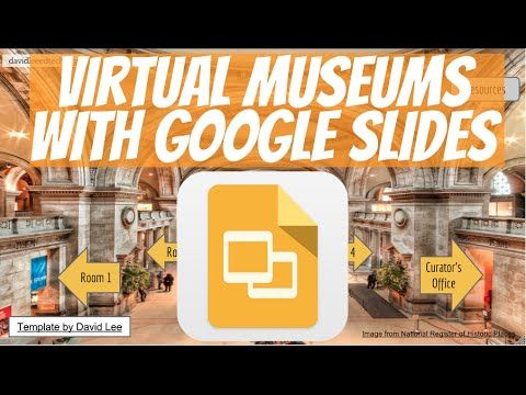 virtual museum template using google slides presentation | david, Presentation templates