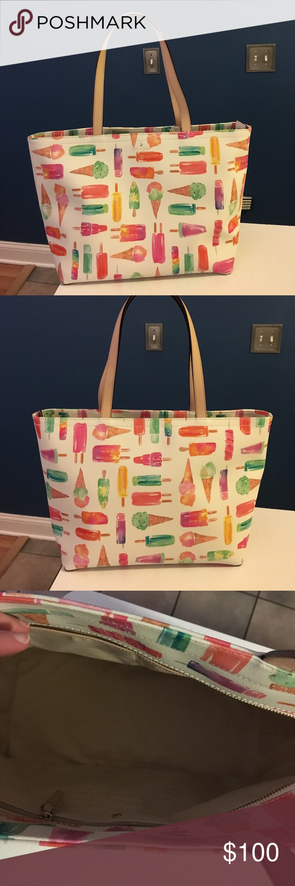 Kate Spade Flavor of the Month Ice Cream Francis Kate Soade Francis shoulder bag, only used a few times and in excellent condition, very small marks on the bottom from very light use kate spade Bags Shoulder Bags