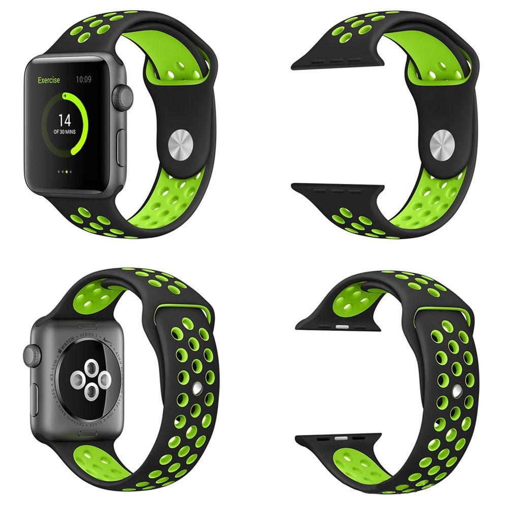 Silicon Sports Watch Band Strap for Apple Watch Nike+ Plus