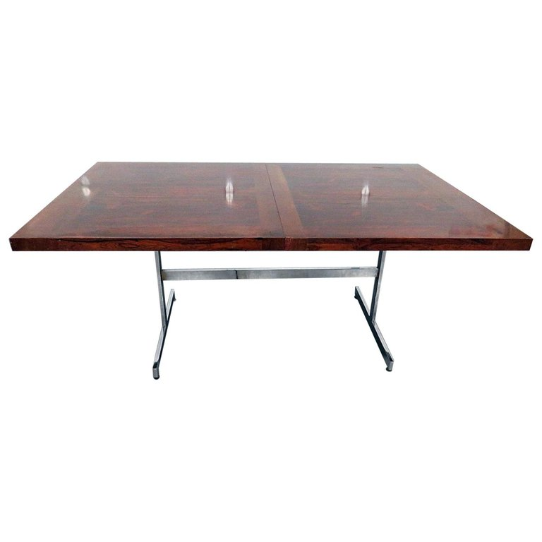 Milo Baughman Style Rosewood Dining Table Dining Table Table